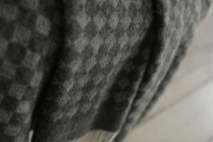 Плед Flaum Simon 140x200 шерстяной темно-серый