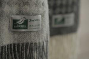 Плед Flaum Simon 140x200 шерстяной светло-серый