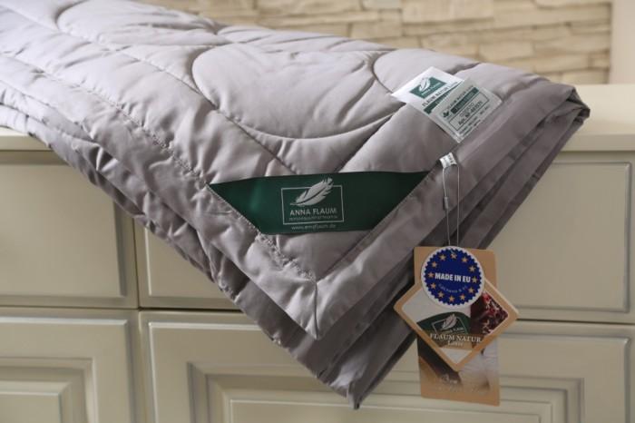 Темно-серое одеяло Flaum Farbe 150х200 легкое